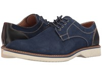 Florsheim Union Plain Toe Oxford Blue Suede Blue Smooth Men's Lace Up Casual Shoes Navy
