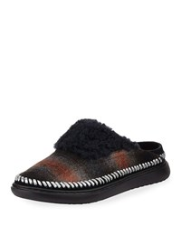 Cole Haan 2.Zerogrand Convertible Plaid Slipper Mules Wool Plaid