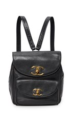 Wgaca Chanel Caviar Backpack Previously Owned Black