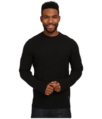 Smartwool Cheyenne Creek Cable Sweater Black Men's Long Sleeve Pullover
