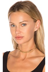 Ettika Multi Chain Choker Metallic Gold