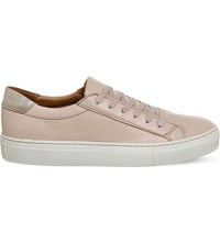 Office Axel Leather Trainers Nude Leather