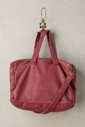 Anthropologie Yao Leather Satchel Red