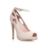Lipsy Vivian High Heel Peep Toe Court Shoes Nude