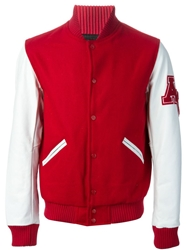 American College 'Teddy 2' Varsity Jacket Red