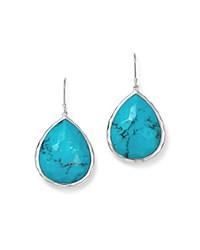 Ippolita Large Single Teardrop Earring In Turquoise Turquoise Silver
