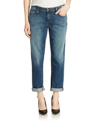 Eileen Fisher Plus Cropped Jeans Aged Indigo