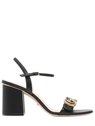 Gucci 75Mm Marmont Gg Leather Sandals
