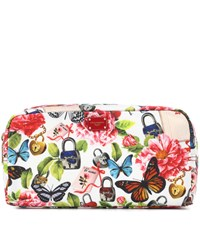 Dolce And Gabbana Floral Printed Cosmetics Case Multicoloured
