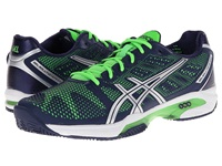 Asics Gel Solution Speed 2 Clay Court Navy Silver Neon Green Men's Shoes Blue