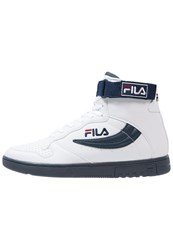 Fila Fx100 Hightop Trainers Bright White Dress Blues