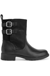 Dkny Nayla Calf Hair And Leather Biker Boots Black