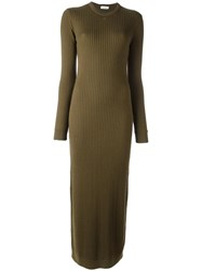 Courreges Long Knit Dress Green
