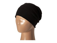 Cole Haan Cashmere Roll Cuff Slouchy Beanie Black Beanies