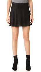 Bb Dakota Kimber Faux Suede Skirt Black