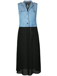 Guild Prime Sleeveless Contrast Dress Blue