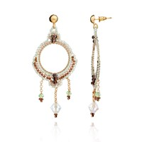 Azuni London Bonita Crystal Chandelier Earrings In Mountain