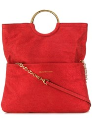 L'autre Chose Round Handles Tote Red
