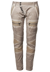 Cream Sassy Trousers Warm Taupe