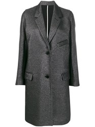Zadig And Voltaire Marla Lurex Single Breasted Coat 60