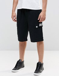 Aape By A Bathing Ape Army Sweat Shorts In Loose Fit Black