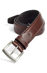 Men's Big And Tall Johnston And Murphy Calfskin Belt Dark Brown