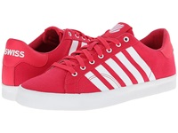 K Swiss Belmont So T Raspberry White Women's Tennis Shoes Red