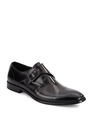 Kenneth Cole 1 Way Ticket Leather Monk Strap Shoes Black