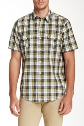 Timberland Plaid Short Sleeve Regular Fit Shirt Green
