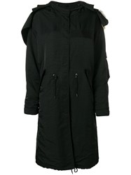 Givenchy Oversized Parka Coat Black