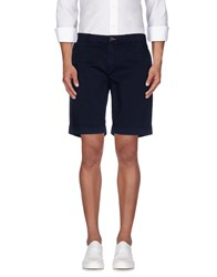 Maison Clochard Trousers Bermuda Shorts Men Dark Blue