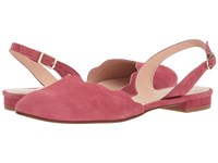 French Sole Book Rose Suede Sling Back Shoes Pink