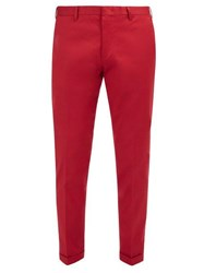 Paul Smith Classic Stretch Cotton Chino Trousers Red