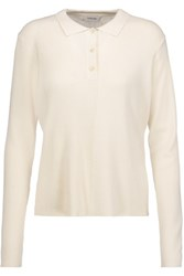 Toteme Moscow Paneled Ribbed And Stretch Knit Top Ivory