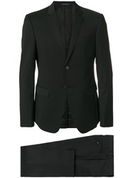 Emporio Armani Classic Formal Suit Acetate Cupro Viscose Virgin Wool Black