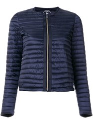 Save The Duck Collarless Padded Jacket Blue