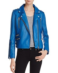 Blank Nyc Blanknyc Faux Leather Moto Jacket 100 Bloomingdale's Exclusive French Blue