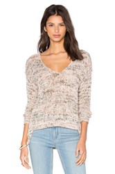 Soh Kate Open Knit Slouchy Pullover Beige
