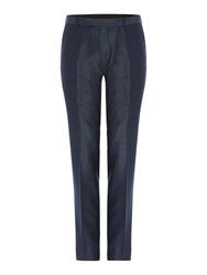 Kenneth Cole Pinsent Silk Tonic Trousers Petrol