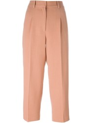 Forte Forte Cropped Trousers Pink And Purple