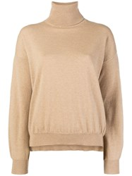 Mauro Grifoni Round Neck Jumper Nude And Neutrals