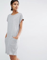 Y.A.S Evita Wool Dress With Oversized Pockets Grey
