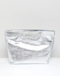 Carvela Large Cosmetic Bag Silver