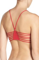 Free People Women's Racerback Bralette Red