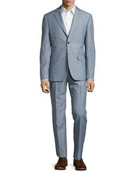 Hardy Amies Two Piece Pic Stitched Suit Sea Salt
