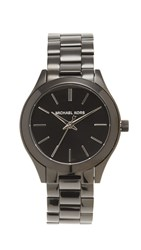 Michael Kors Mini Slim Runway Watch Black Silver