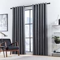 Dkny Madison Lined Curtains Charcoal Grey