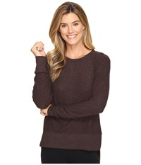 Alo Yoga Glimpse Long Sleeve Top Mink Heather Women's Clothing Gray