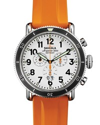 48Mm Runwell Sport Chronograph Watch With Rubber Strap Orange Shinola