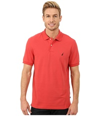 Nautica Short Sleeve Solid Deck Shirt Sailor Red Men's Short Sleeve Knit